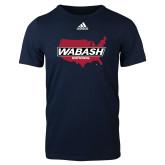 Adidas Navy Logo T Shirt-Wabash