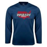 Performance Navy Longsleeve Shirt-Wabash