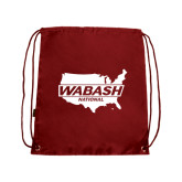 Cardinal Drawstring Backpack-Wabash