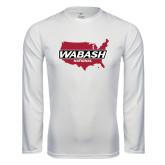 Performance White Longsleeve Shirt-Wabash