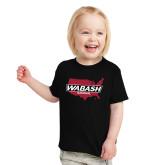 Toddler Black T Shirt-Wabash