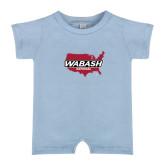 Light Blue Infant Romper-Wabash