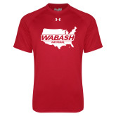 Under Armour Red Tech Tee-Wabash