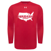Under Armour Red Long Sleeve Tech Tee-Wabash