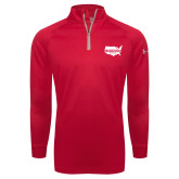 Under Armour Red Tech 1/4 Zip Performance Shirt-Wabash