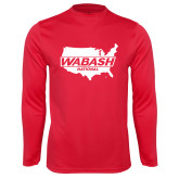 Syntrel Performance Red Longsleeve Shirt-Wabash