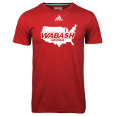 Adidas Climalite Red Ultimate Performance Tee-Wabash