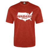 Performance Red Heather Contender Tee-Wabash