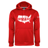 Under Armour Red Performance Sweats Team Hoodie-Wabash