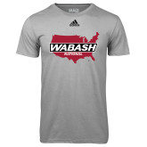Adidas Climalite Sport Grey Ultimate Performance Tee-Wabash