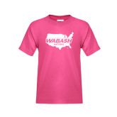 Youth Cyber Pink T Shirt-Wabash