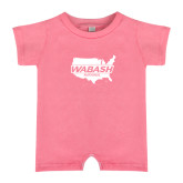 Bubble Gum Pink Infant Romper-Wabash
