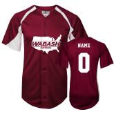 Replica Cardinal Adult Baseball Jersey-Wabash