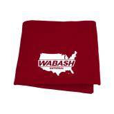 Cardinal Sweatshirt Blanket-Wabash