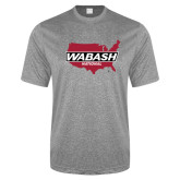 Performance Grey Heather Contender Tee-Wabash