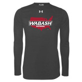 Under Armour Carbon Heather Long Sleeve Tech Tee-Wabash