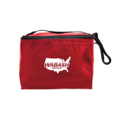 Six Pack Red Cooler-Wabash