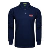 Navy Long Sleeve Polo-Wabash