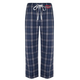 Navy/White Flannel Pajama Pant-Wabash