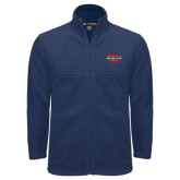 Fleece Full Zip Navy Jacket-Wabash