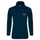 Ladies Fleece Full Zip Navy Jacket-Wabash