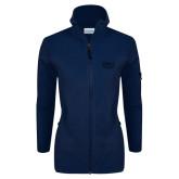 Columbia Ladies Full Zip Navy Fleece Jacket-Wabash
