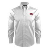 Red House White Dobby Long Sleeve Shirt-Wabash