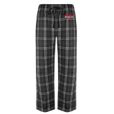 Black/Grey Flannel Pajama Pant-Wabash
