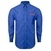 Mens Royal Oxford Long Sleeve Shirt-Wabash
