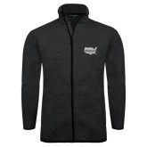 Black Heather Fleece Jacket-Wabash