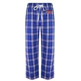 Royal/White Flannel Pajama Pant-Wabash