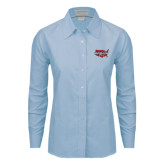 Ladies Light Blue Oxford Shirt-Wabash