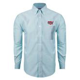 Mens Light Blue Oxford Long Sleeve Shirt-Wabash