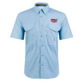 Light Blue Short Sleeve Performance Fishing Shirt-Wabash