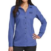 Ladies Red House French Blue Long Sleeve Shirt-Wabash