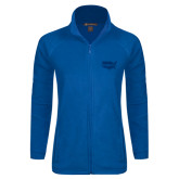 Ladies Fleece Full Zip Royal Jacket-Wabash