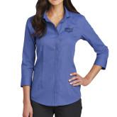 Ladies Red House French Blue 3/4 Sleeve Shirt-Wabash