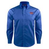 Red House French Blue Dobby Long Sleeve Shirt-Wabash