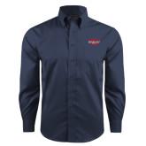 Red House Deep Blue Herringbone Long Sleeve Shirt-Wabash