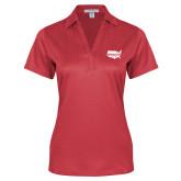 Ladies Red Performance Fine Jacquard Polo-Wabash
