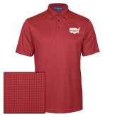 Red Performance Fine Jacquard Polo-Wabash