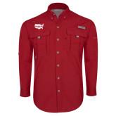 Columbia Bahama II Red Long Sleeve Shirt-Wabash