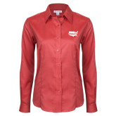 Ladies Red House Red Long Sleeve Shirt-Wabash