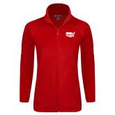 Ladies Fleece Full Zip Red Jacket-Wabash