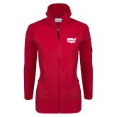 Columbia Ladies Full Zip Red Fleece Jacket-Wabash