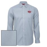 Red House Light Blue Diamond Dobby Long Sleeve Shirt-Wabash