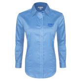 Ladies Red House Light Blue Long Sleeve Shirt-Wabash