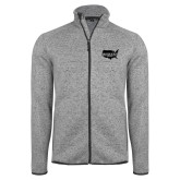 Grey Heather Fleece Jacket-Wabash