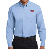 Light Blue Twill Button Down Long Sleeve-Wabash