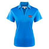 Ladies Light Blue Performance Fine Jacquard Polo-Wabash